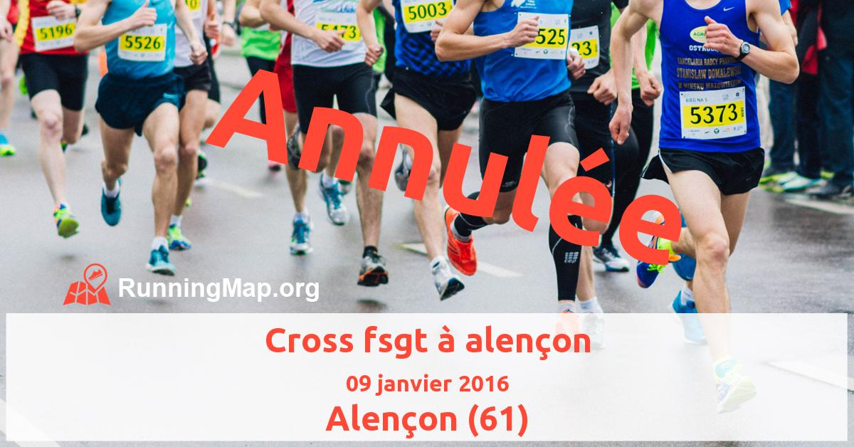 Cross fsgt à alençon