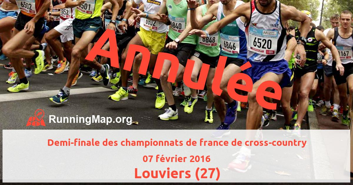 Demi-finale des championnats de france de cross-country