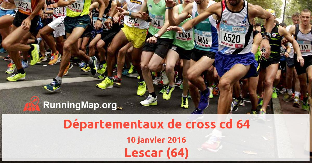 Départementaux de cross cd 64