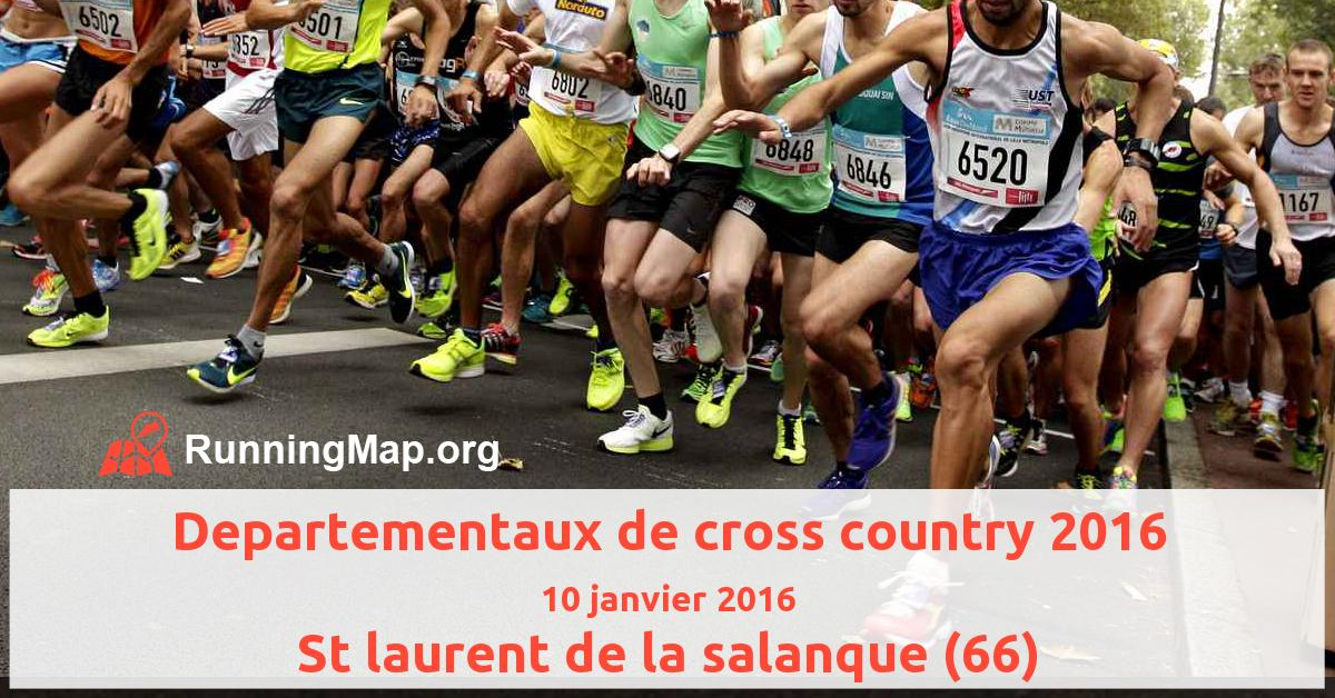 Departementaux de cross country 2016
