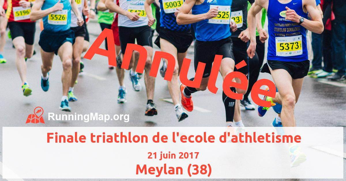 Finale triathlon de l'ecole d'athletisme
