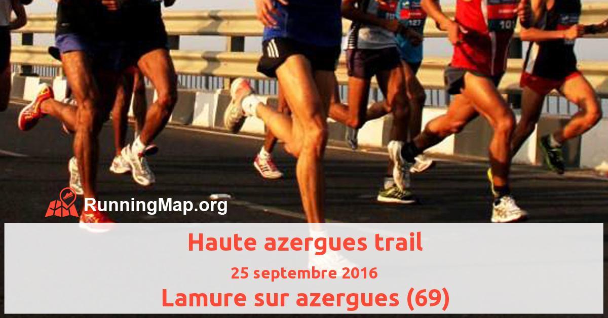Haute azergues trail