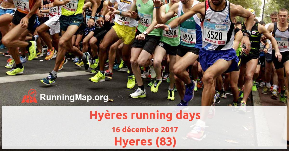 Hyères running days