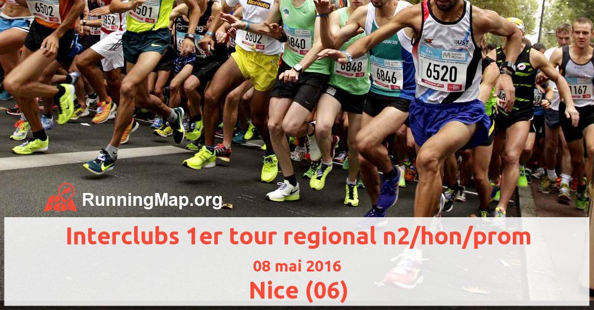 Interclubs 1er tour regional n2/hon/prom