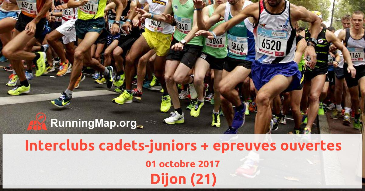 Interclubs cadets-juniors + epreuves ouvertes