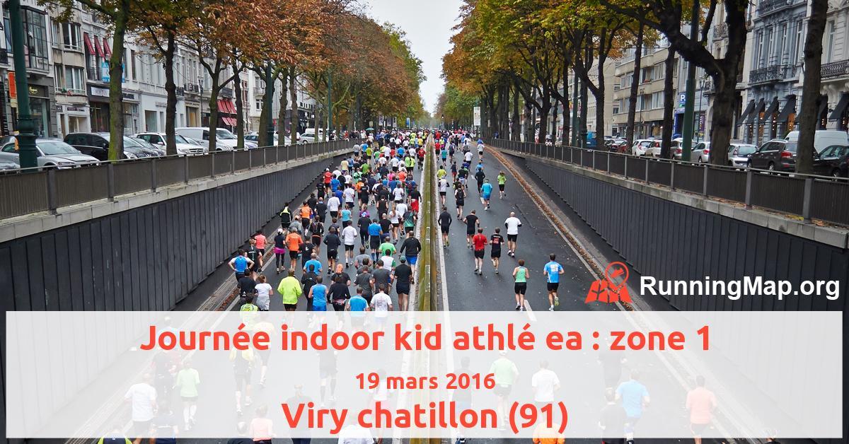 Journée indoor kid athlé ea : zone 1