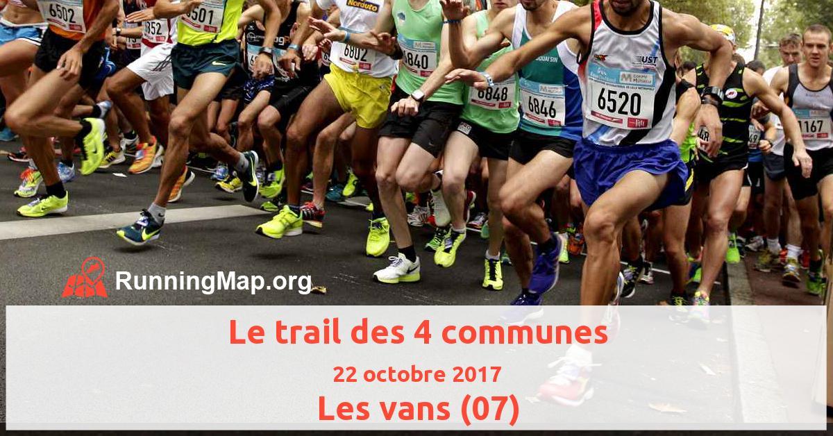 Le trail des 4 communes