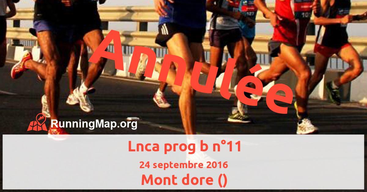 Lnca prog b n°11