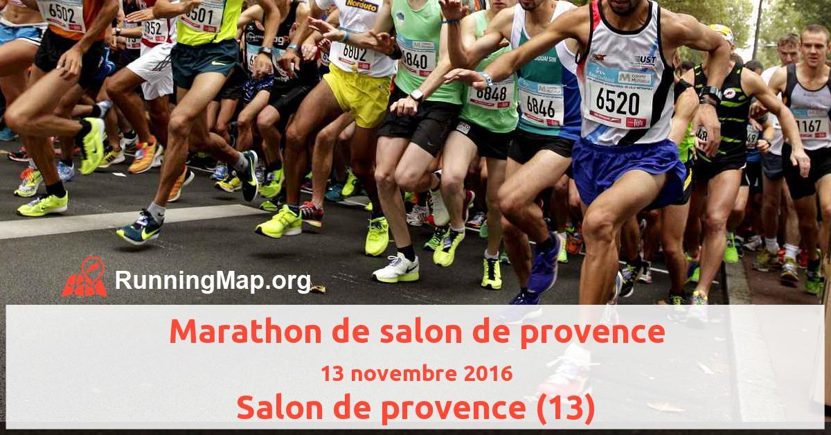 Marathon de salon de provence 2016 running map for Bowling salon de provence tarif