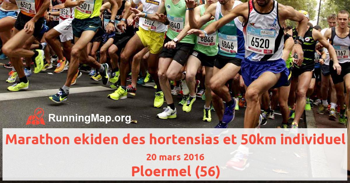 Marathon ekiden des hortensias et 50km individuel