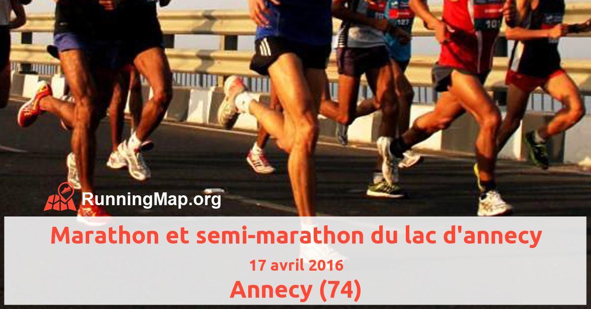 Marathon et semi-marathon du lac d'annecy