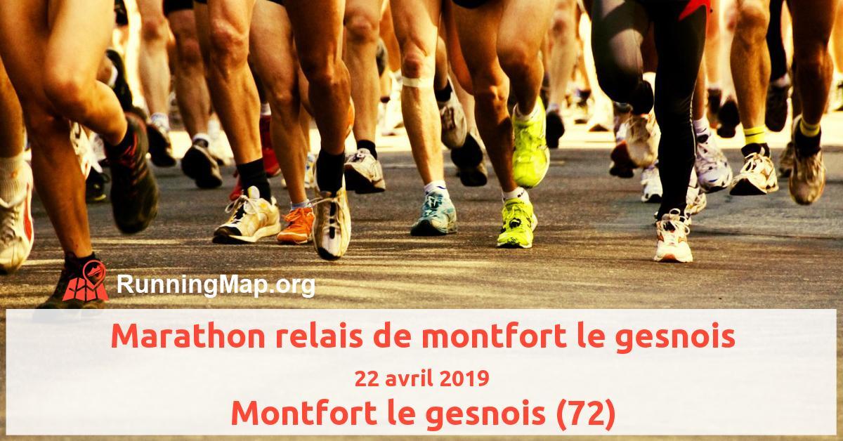 Marathon relais de montfort le gesnois