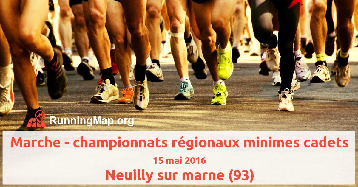 Marche - championnats régionaux minimes cadets