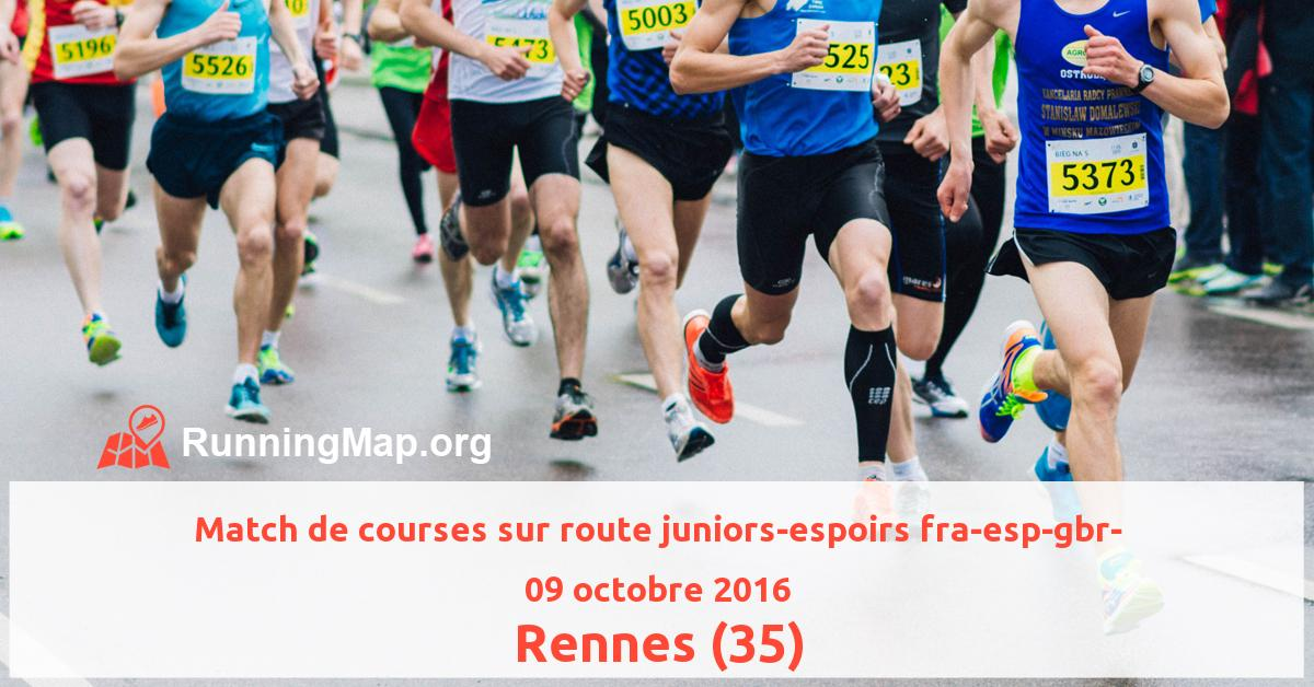 Match de courses sur route juniors-espoirs fra-esp-gbr-
