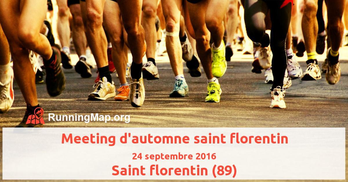 Meeting d'automne saint florentin