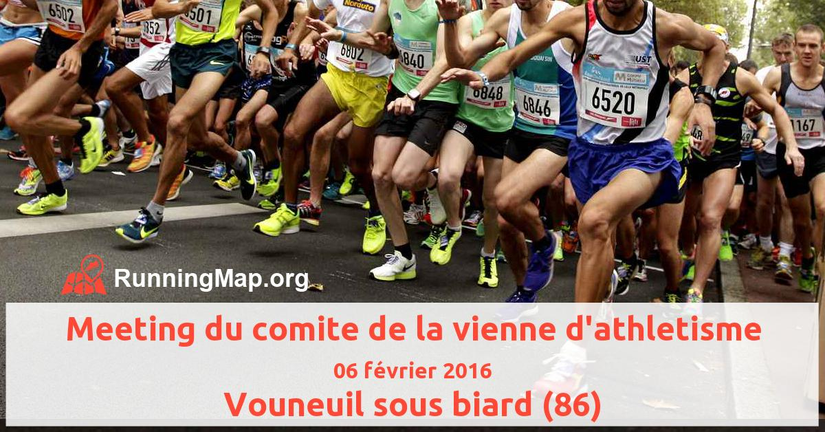 Meeting du comite de la vienne d'athletisme