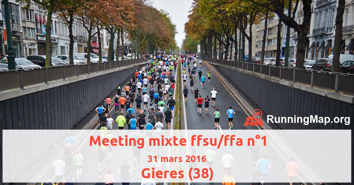 Meeting mixte ffsu/ffa n°1