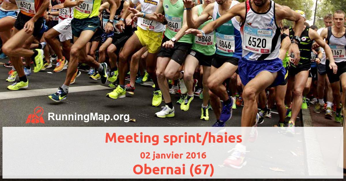 Meeting sprint/haies