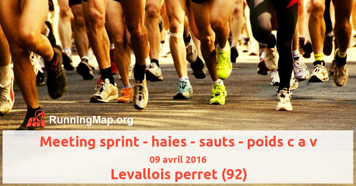 Meeting sprint - haies - sauts - poids c a v