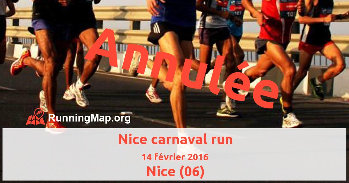 Nice carnaval run