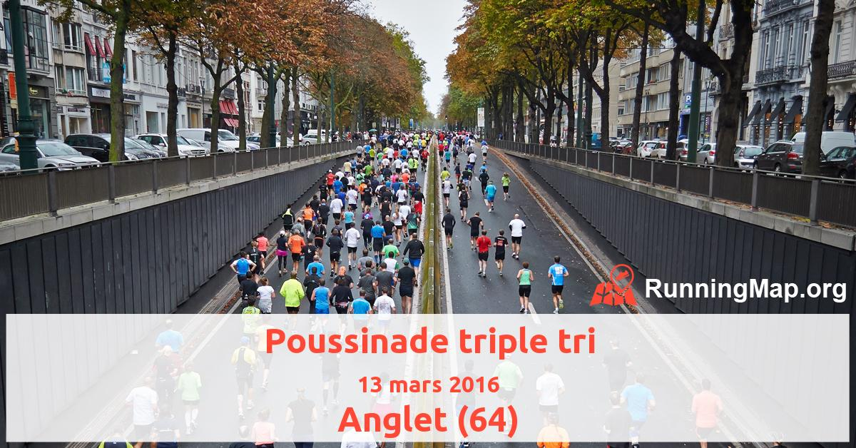 Poussinade triple tri