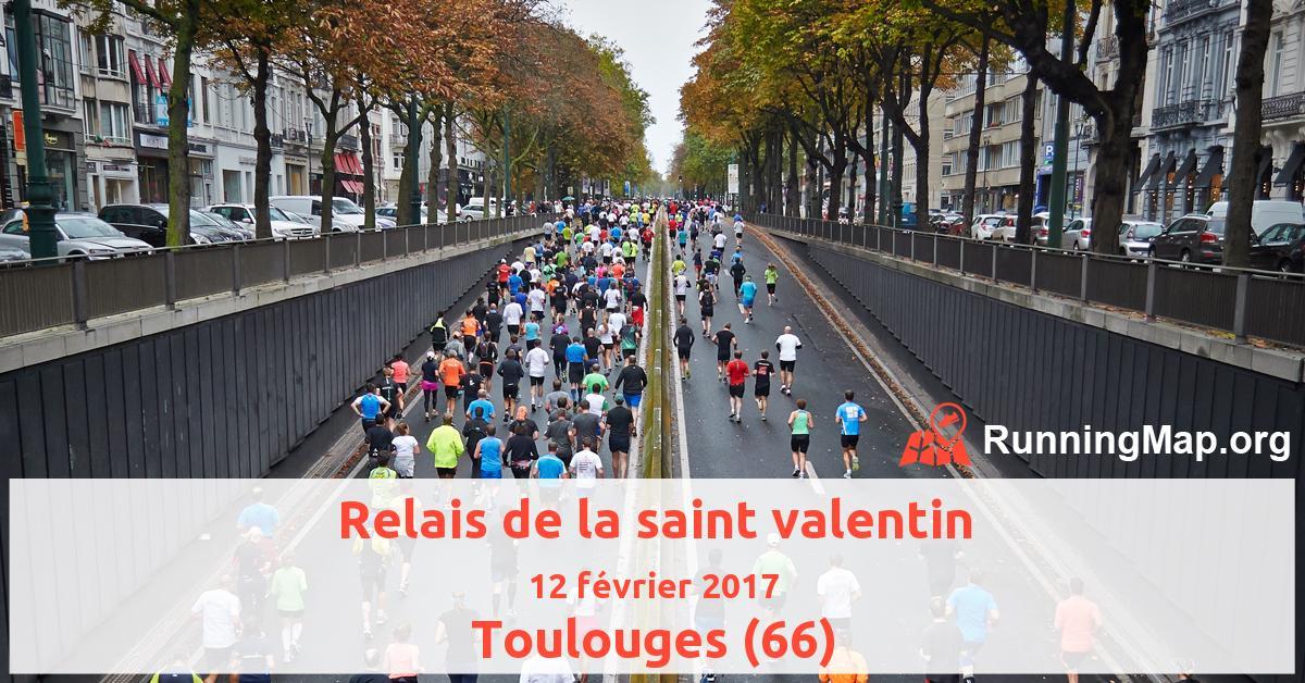 Relais de la saint valentin 2017 running map - La saint valentin 2017 ...