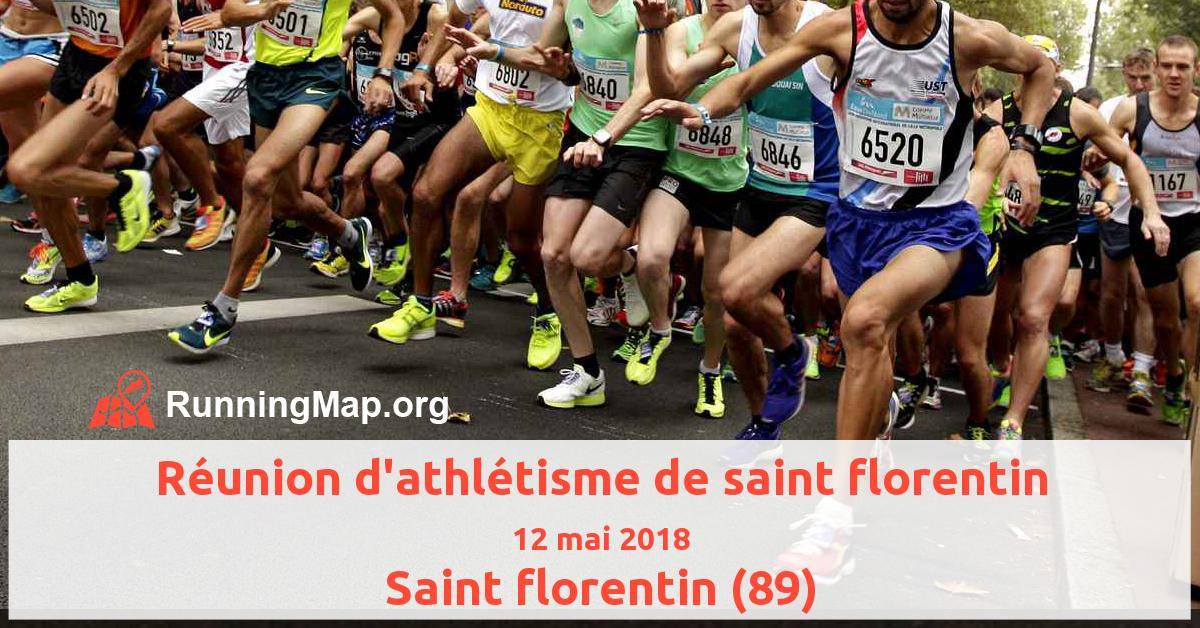 Réunion d'athlétisme de saint florentin