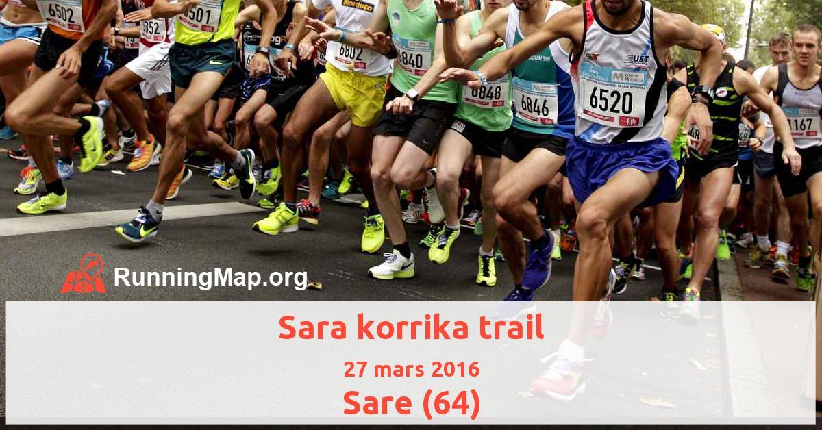 Sara korrika trail