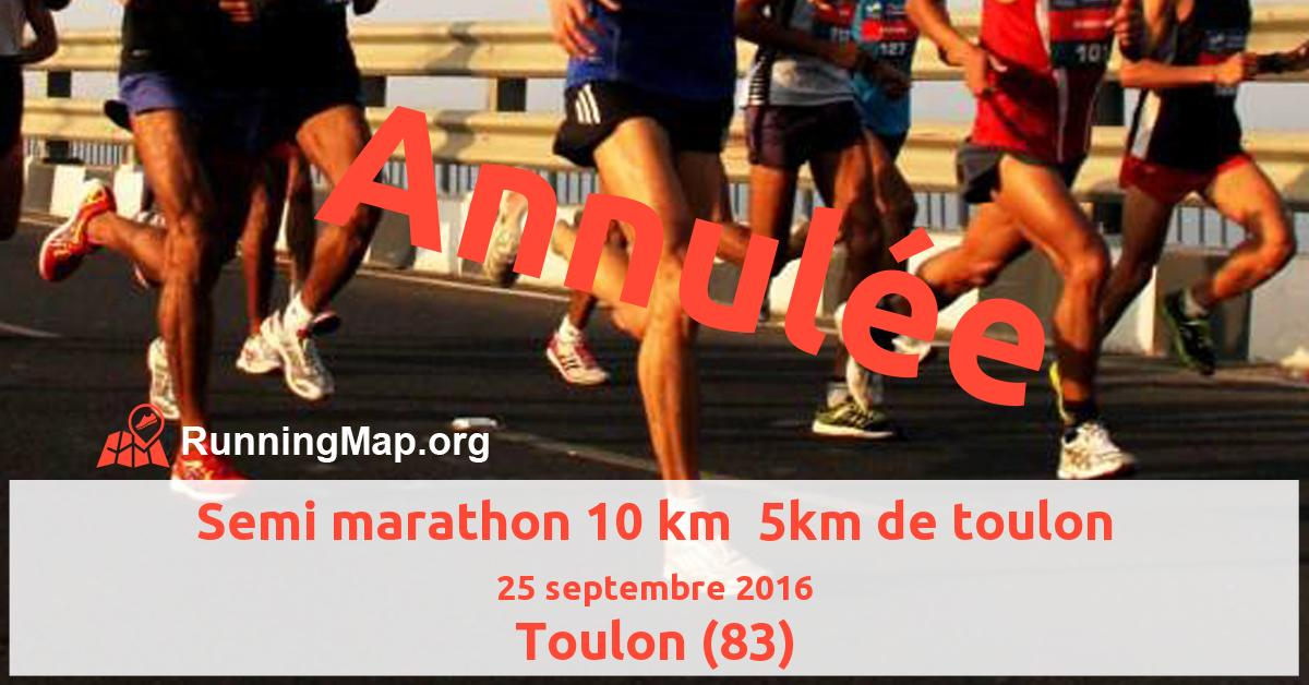 Semi marathon 10 km  5km de toulon