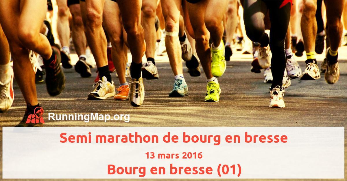 Semi marathon de bourg en bresse