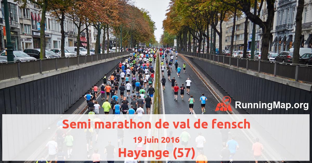 Semi marathon de val de fensch