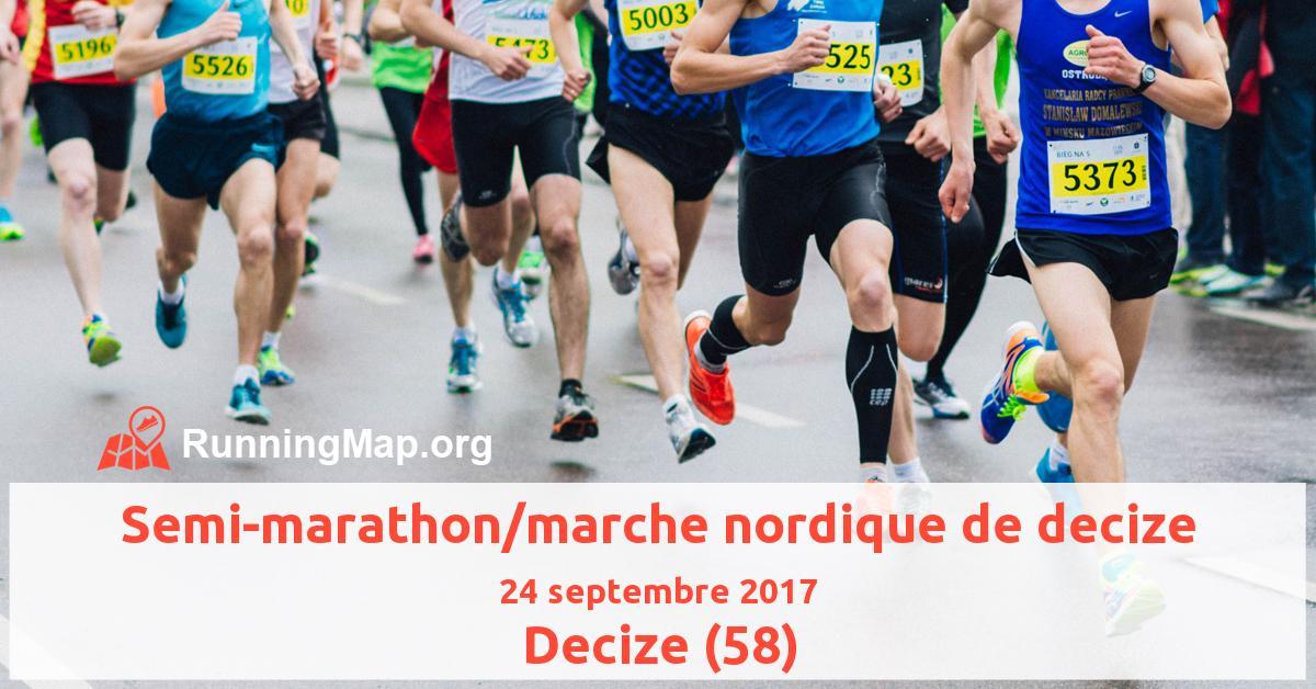Semi-marathon/marche nordique de decize