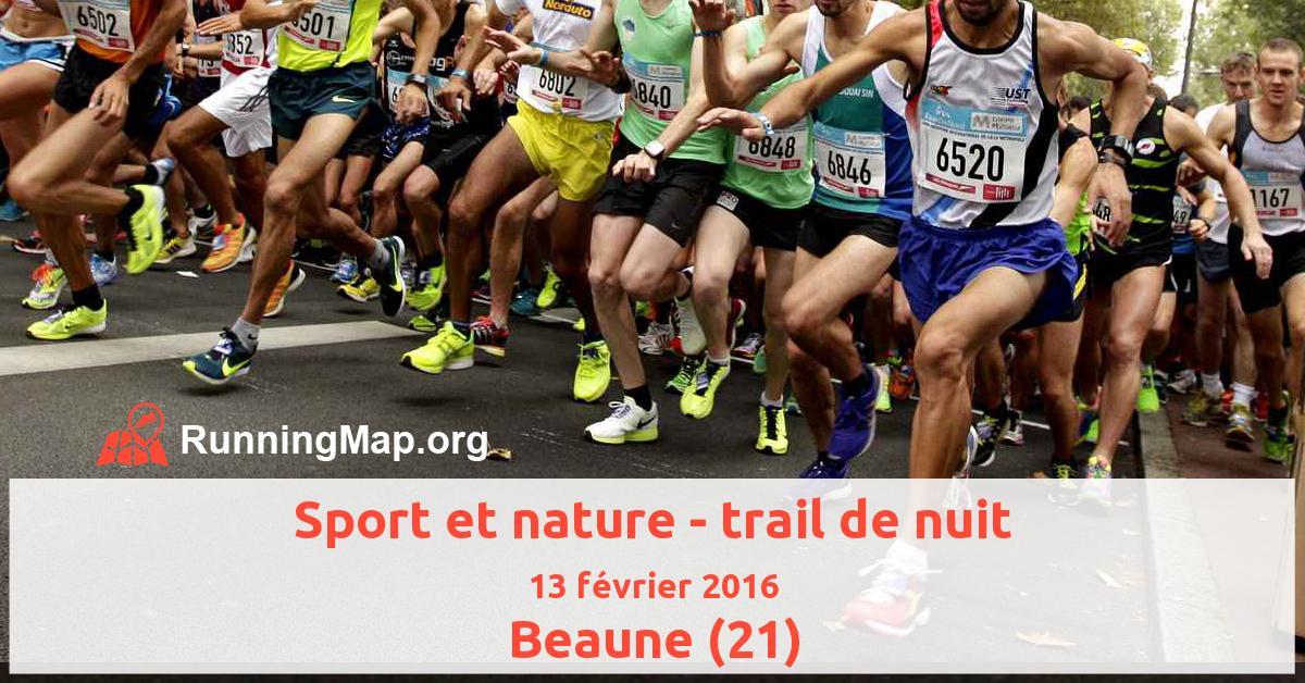 Sport et nature - trail de nuit