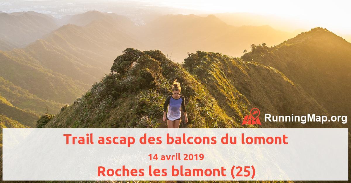 Trail ascap des balcons du lomont
