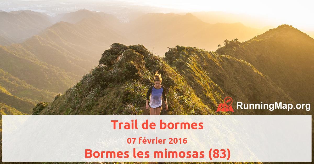 Trail de bormes