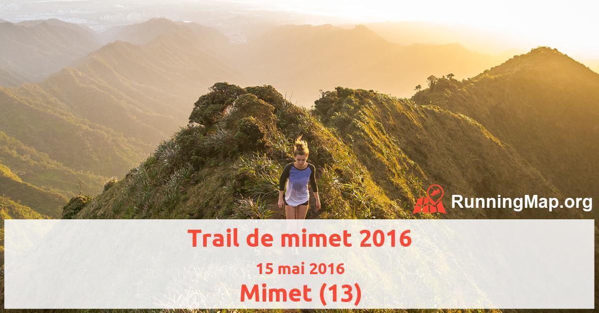 Trail de mimet 2016