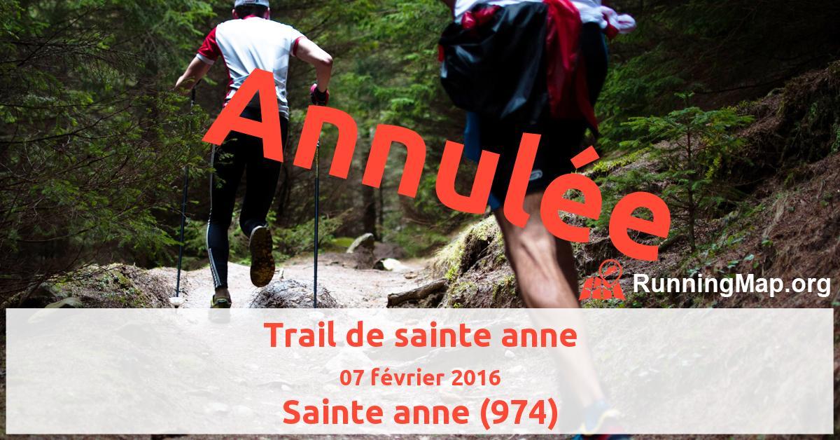 Trail de sainte anne