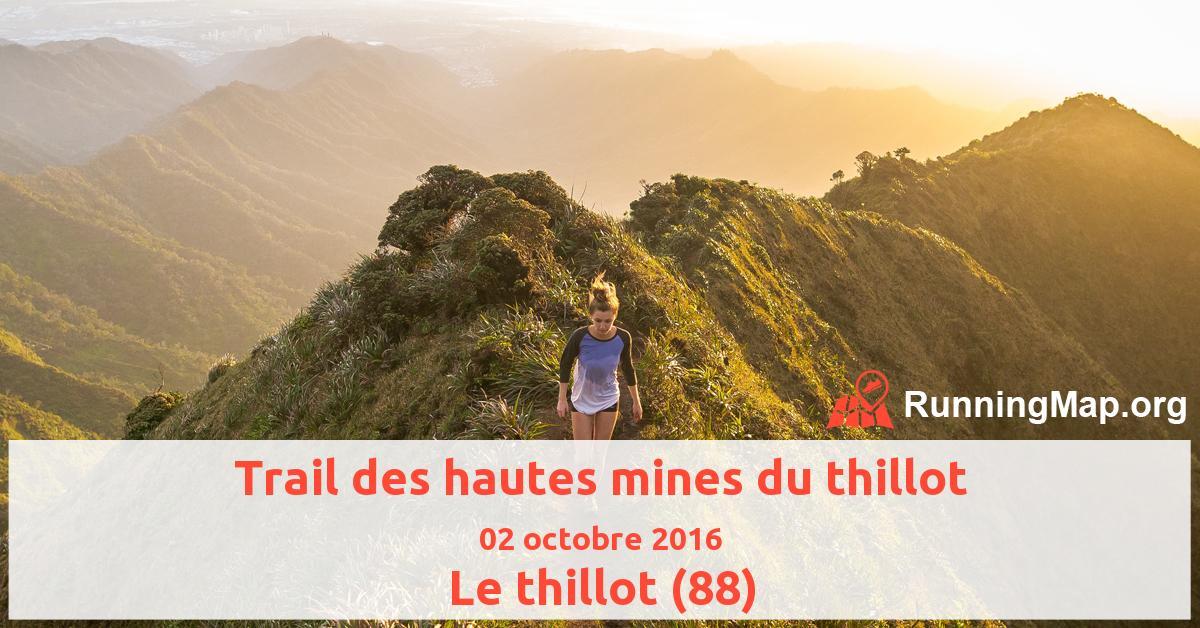 Trail des hautes mines du thillot