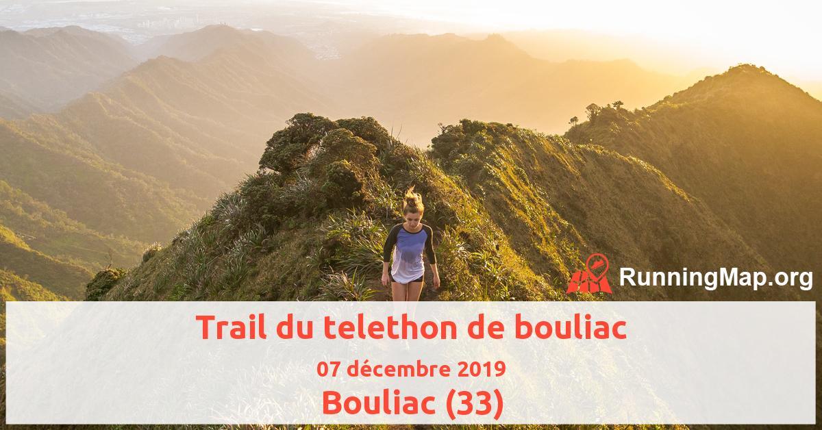 Trail du telethon de bouliac