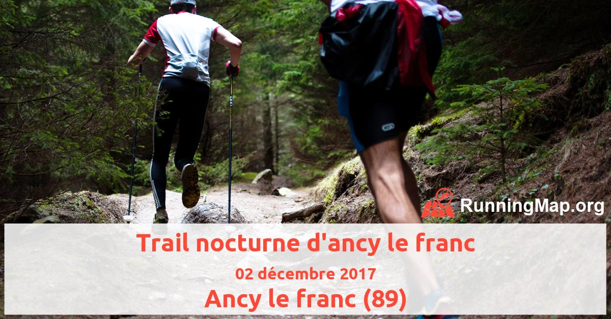 Trail nocturne d'ancy le franc