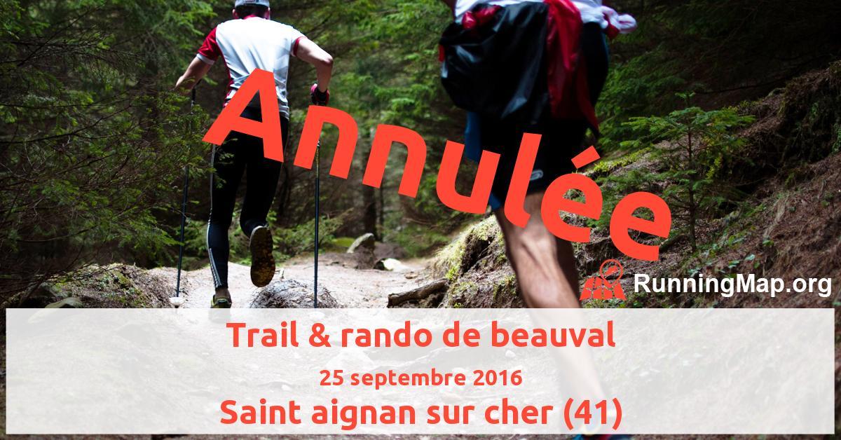 Trail & rando de beauval