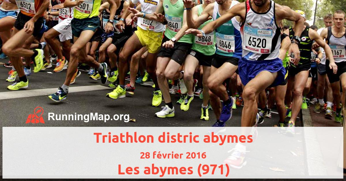 Triathlon distric abymes
