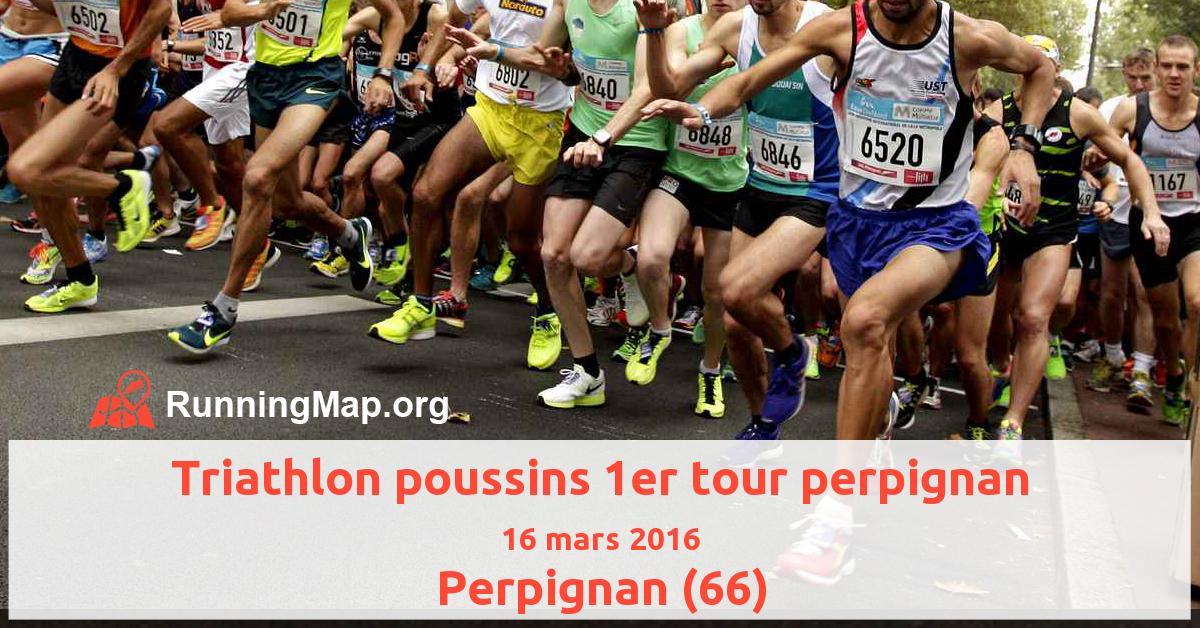 Triathlon poussins 1er tour perpignan