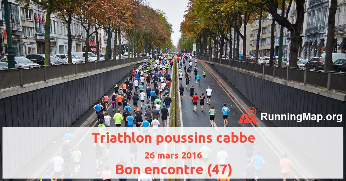 Triathlon poussins cabbe