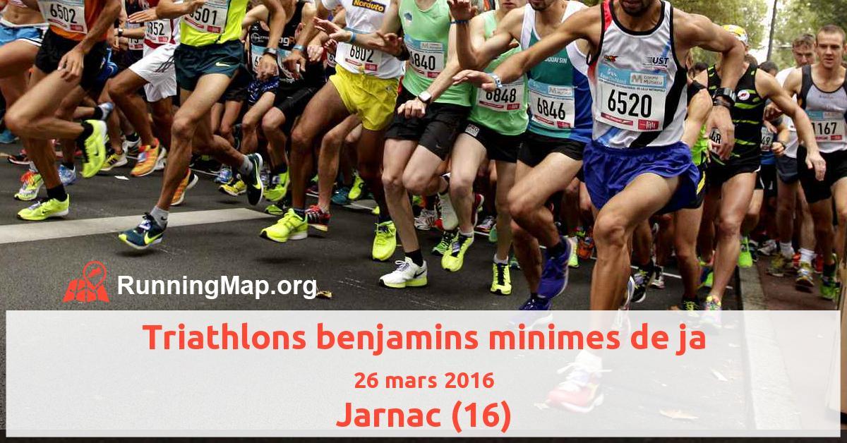 Triathlons benjamins minimes de ja
