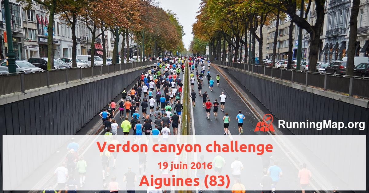 Verdon canyon challenge